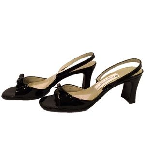 Etienne Aigner Black Slingback High-heel Sandals